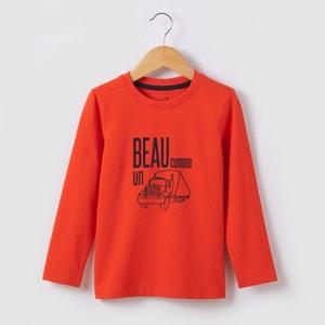 Long-Sleeved Truck T-shirt, 3-12 Yrs abcd'R