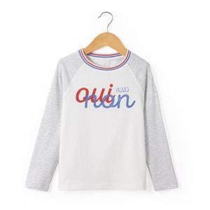 Long-Sleeved Slogan T-Shirt, 3-12 Years R essentiel