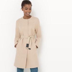 Manteau mi-long ceinturé R essentiel