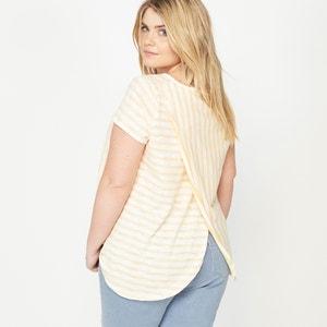 T-Shirt mit Streifen hinten verziert CASTALUNA