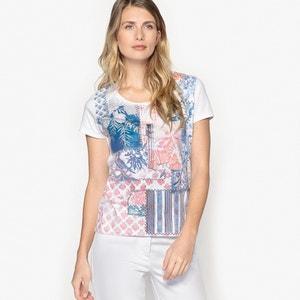 Printed Short-Sleeved Cotton T-Shirt ANNE WEYBURN