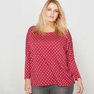 Koszulka oversize z długim rękawem z bawełny i modalu CASTALUNA