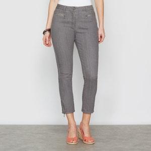 Stretch Denim Cropped Trousers ANNE WEYBURN