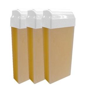Lot de 3 Recharges cartouches cire épilation Miel