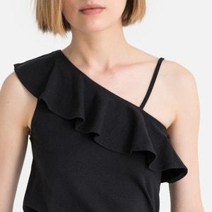 T-shirt met 1 blote schouder