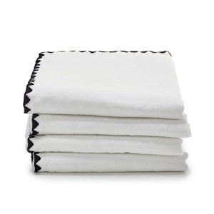Serviettes métis coton lin, Adrio (lot de 4) La Redoute Interieurs