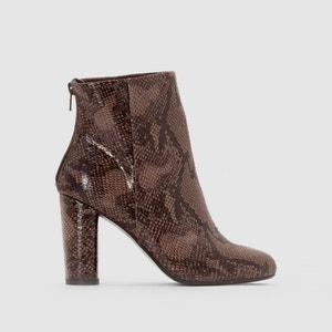 Buty na obcasie z wężowym wzorkiem MADEMOISELLE R