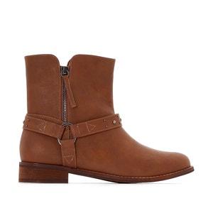 Boots in biker stijl, brede voet CASTALUNA