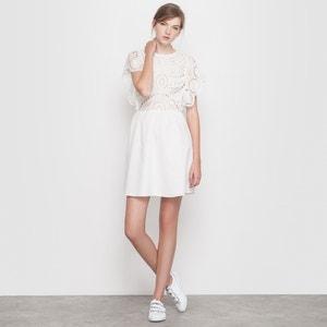 Vestido de algodón con bordados MADEMOISELLE R