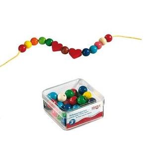 Boîte de perles en bois Coeur HABA