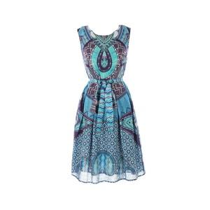 Bedrukte korte jurk zonder mouwen RENE DERHY