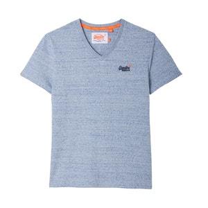 T-shirt scollo rotondo tinta unita, maniche corte SUPERDRY