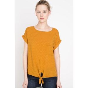 T-shirt femme motif discret noeud BONOBO