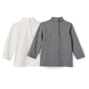 T-shirt met lange mouwen en rolkraag (set van 2) La Redoute Collections