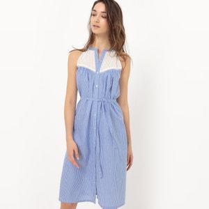 Gestreepte jurk zonder mouwen R édition