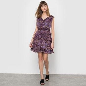 Wzorzysta sukienka z falbankami R studio