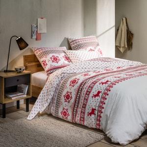 Bedruckter Flanell-Bettbezug