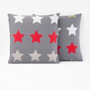 Bedrukte kussensloop STARS, antraciet La Redoute Interieurs