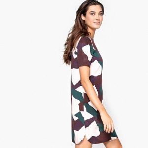 Robe droite, imprimée camouflage, viscose R Edition