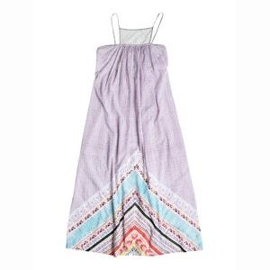 Lange jurk, smalle bandjes, bedrukt ROXY, LOST BOHEMIAN ROXY