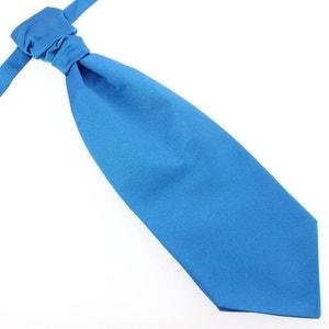Lavallière nouée en soie, Bleu Cina, Faite à la main TONY ET PAUL
