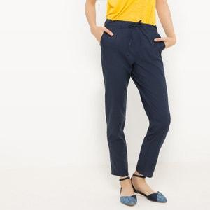 Pantalon fuselé, coton/lin R édition