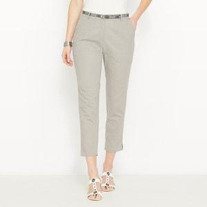 Pantalon 7/8ème, lin majoritaire ANNE WEYBURN