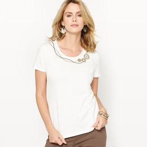 T-shirt, puro algodão penteado ANNE WEYBURN