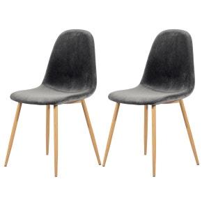 chaise tissu gris la redoute. Black Bedroom Furniture Sets. Home Design Ideas