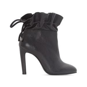 Boots in pelle stretti alla caviglia La Redoute Collections