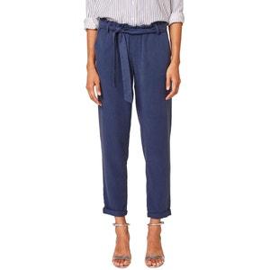 Trousers with Tie Waist Belt ESPRIT