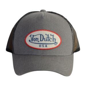9e89fe5f5db4c Casquette baseball homme Von Dutch Log Gris VON DUTCH