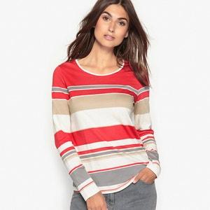 Camiseta a rayas de algodón y modal ANNE WEYBURN
