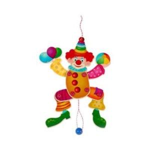 HESS SPIELZEUG Le clown articulé jouet en bois HESS-SPIELZEUG