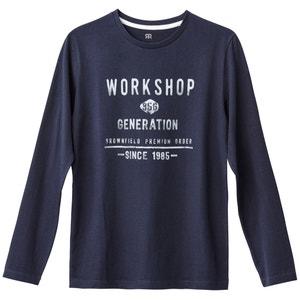 T-shirt a maniche lunghe 10-16 anni La Redoute Collections