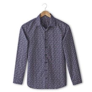 Camisa urbana corte slim con estampado 100% algodón SOFT GREY