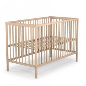 Lit bébé en bois brut Baby Fox à barreaux  3 hauteurs 60 x 120 cm BABY FOX