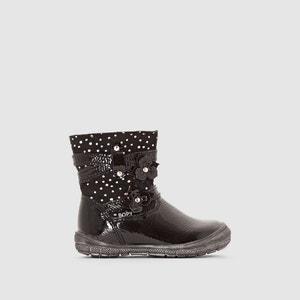 Gelakte boots met bloem details, BERLINE BOPY