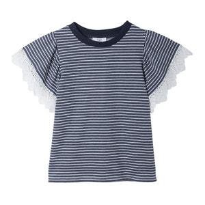 Gestreept T-shirt met kant SUZY SUNCOO