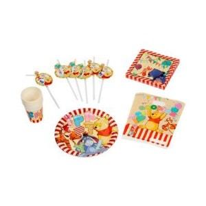 BABY-WALZ Le lot d'articles de fête standard Winnie l'Ourson pour 6 personnes anniversaire enfant BABY-WALZ