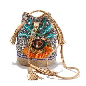 Carteira tipo saco com lantejoulas multicolores, PALLAS BUCKET BAG ANTIK BATIK
