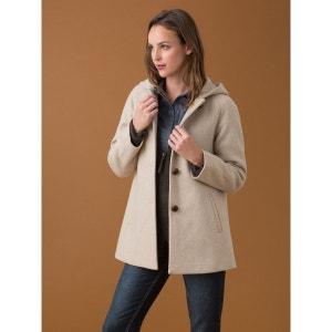 Manteau femme trapèze en drap de laine, IMHOFF SOMEWHERE