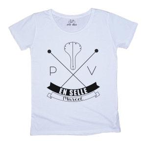 T-shirt Femme en selle Marcel P TIT VELO