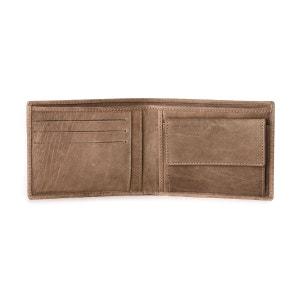 Portefeuille pour homme avec Porte-monnaie en Cuir souple Italien Style classique avec fentes pour cartes de crédit et port NUVOLA PELLE