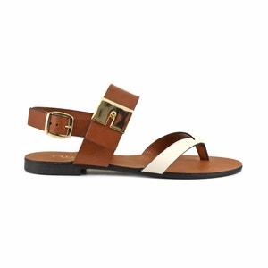 Sandalias de piel GL102 CAFENOIR