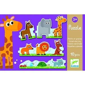 Puzzle 10 pièces : Petits et grands DJECO