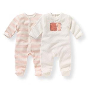 Pyjama naissance éponge 0 mois-3 ans (lot de 2) R mini