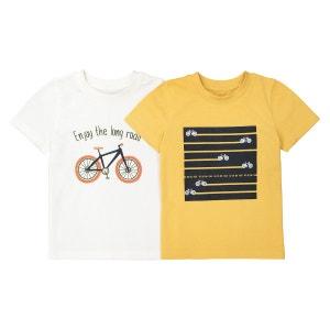 T-shirt col rond imprimé 3-12 ans (lot de 2) La Redoute Collections