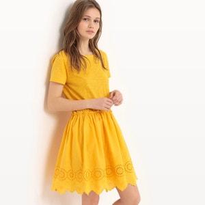 Gładka sukienka do kolan, z krótkim rękawem MADEMOISELLE R