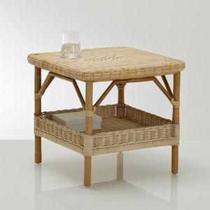Mesa baja de jardín en médula de mimbre Nantucket